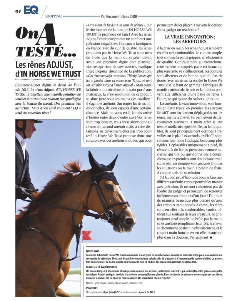 EQ Magazine IHWT